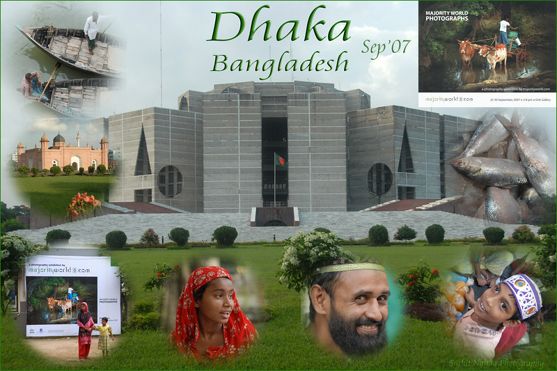 Dhaka (Bangla: ঢাকা, pronounced [ɖʱaka])— (Dacca) is the capital city of Bangladesh (Bengali: বাংলাদেশ [ˈbaŋlad̪eʃ] Bangladesh). Dhaka, located on the banks of the Buriganga River is a megacity with a population of over 12 million. Dhaka is known as the City of Mosques and renowned for producing the world's finest muslin. it is a center for culture, education and business.