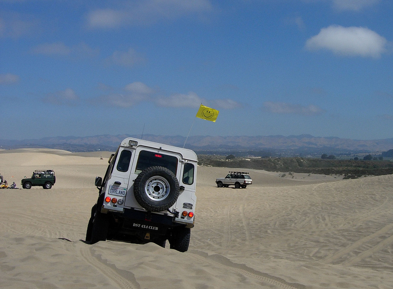 Follow the Leader in Sand 101.  Lots of hills, bowls, and steep steep drop in's!