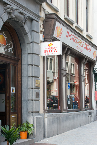 Incredible India boutique and Art of Living in Bruxelles, Belgium.