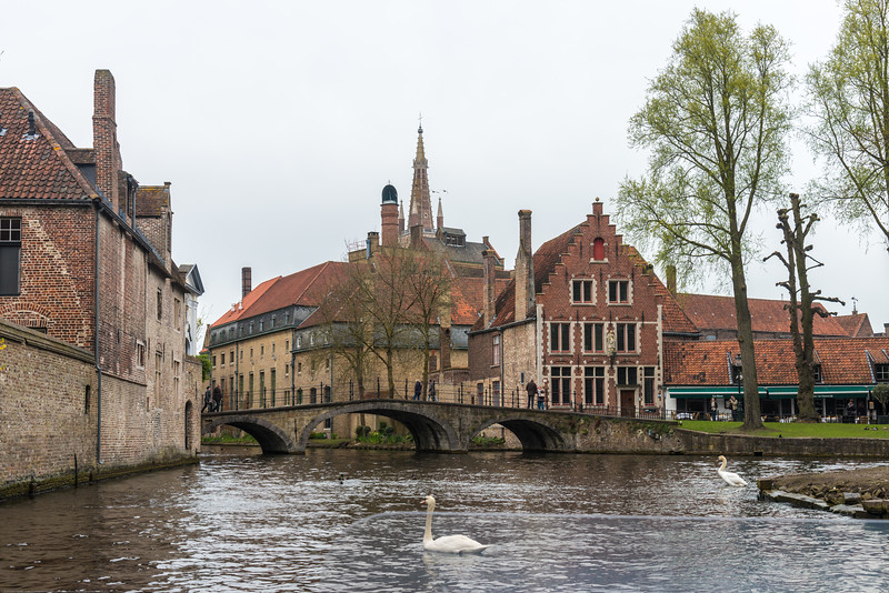 Bruges by boat. Whoever visites Bruges, the Venice of the North, is sure to make a boat-trip on its famous canals.