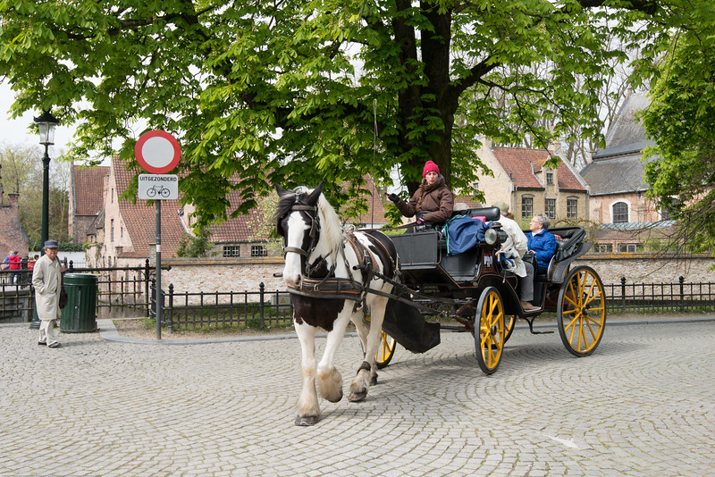Horse carriage. Brugge, Belgium. Bruges is the capital and largest city of the province of West Flanders in the Flemish Region of Belgium, in the northwest of the country. Along with a few other canal-based northern cities, such as Amsterdam and Stockholm, it is sometimes referred to as The Venice of the North. Bruges has a significant economic importance thanks to its port and was once the chief commercial city in the world.
