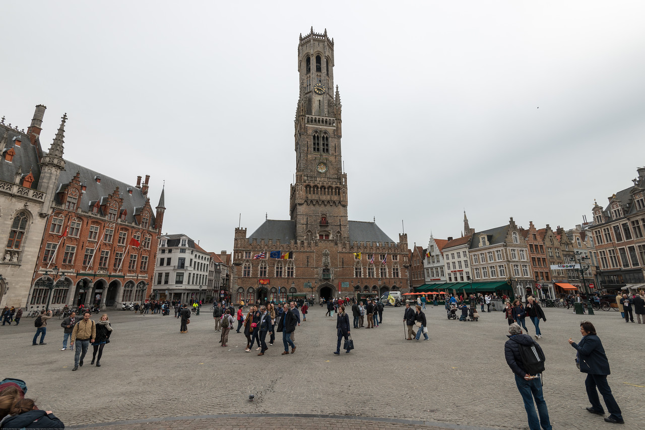 Belfry of Bruges, Place De Bruges. Medieval bell tower with 366 steps leading to views, plus treasure chamber & 47-belled carillon. The Markt of Bruges is located in the heart of the city and covers an area of about 1 hectare. Some historical highlights around the square include the 12th-century belfry and the Provincial Court.