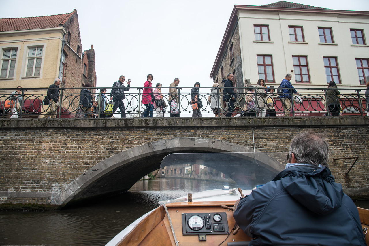 Bruges by boat, Stael nv, Katelijnestraat, Bruges, Belgium.<br /> <br /> Everyone, who visites Bruges, the Venice of the North, is sure to make a boat-trip on its famous canals. The embarcation point is situated in the heart of the beautiful surroundings. Boat-trips take about 30 minutes and gets to see beautifull places buildings from a view that you can only see by boat.