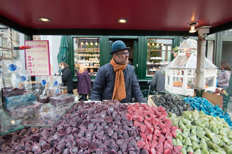 Street vendor at Ghent, Belgium.