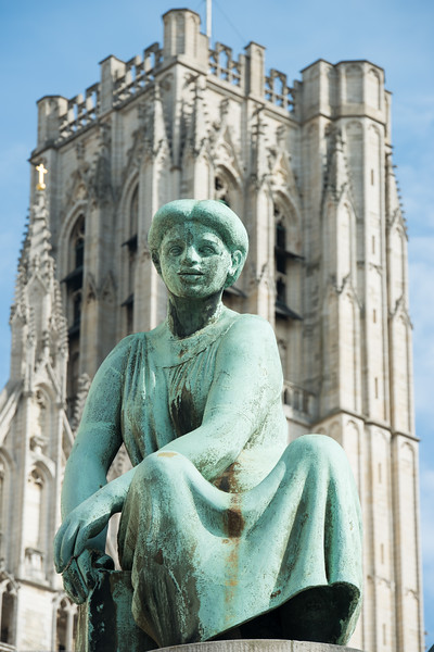 St Michael and St Gudula Cathedral, Brussels, Place Sainte-Gudule, Brussels, Belgium.