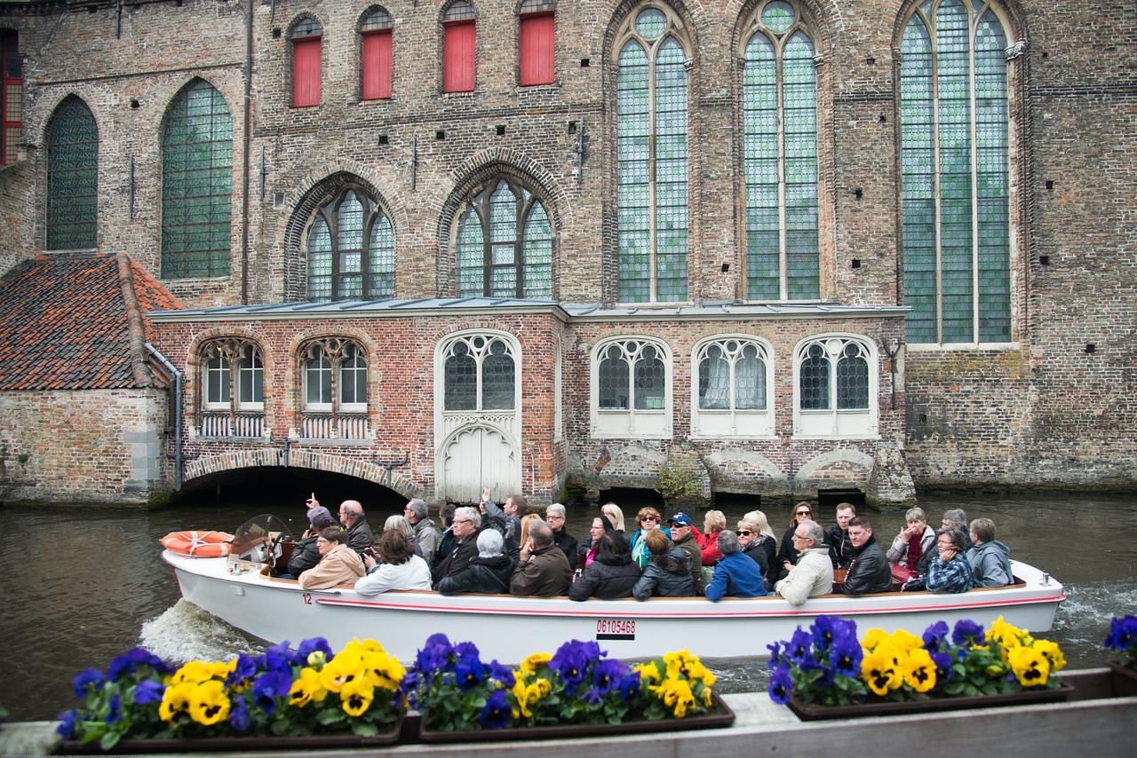 Boating in Brugge, Belgium