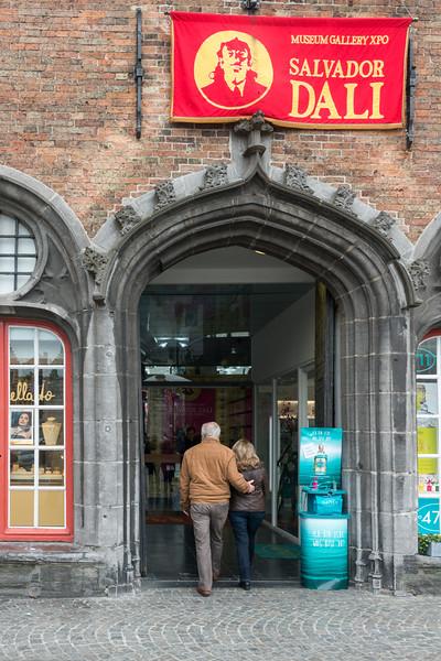 Salvador Dali Exhibition, Museum, Breidelstraat, Bruges, Belgium