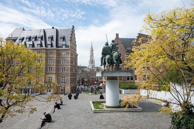 Monument à Don Quichotte. MOOF - Museum Of Original Figurines. Bruxelles, Belgium.