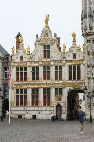 Brugse Vrije, Burg, Bruges, Belgium. The Brugse Vrije was a castellany in the county of Flanders, often called in English 'the Franc of Bruges'. It included the area around Bruges, and was bordered by the North Sea, the Westerschelde and the Yser river.