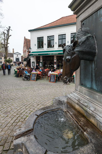 Horses at Brugge, Belgium. Bruges is the capital and largest city of the province of West Flanders in the Flemish Region of Belgium, in the northwest of the country. It is sometimes referred to as The Venice of the North.