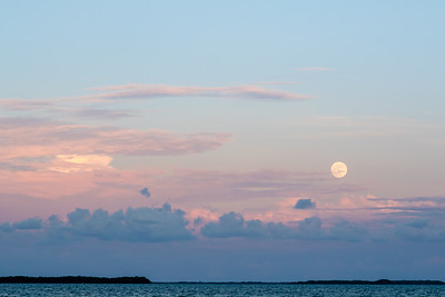 Moonrise view from Lighthouse in Belize City.