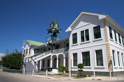 Historical Court House in downtown Belize City, Belize.