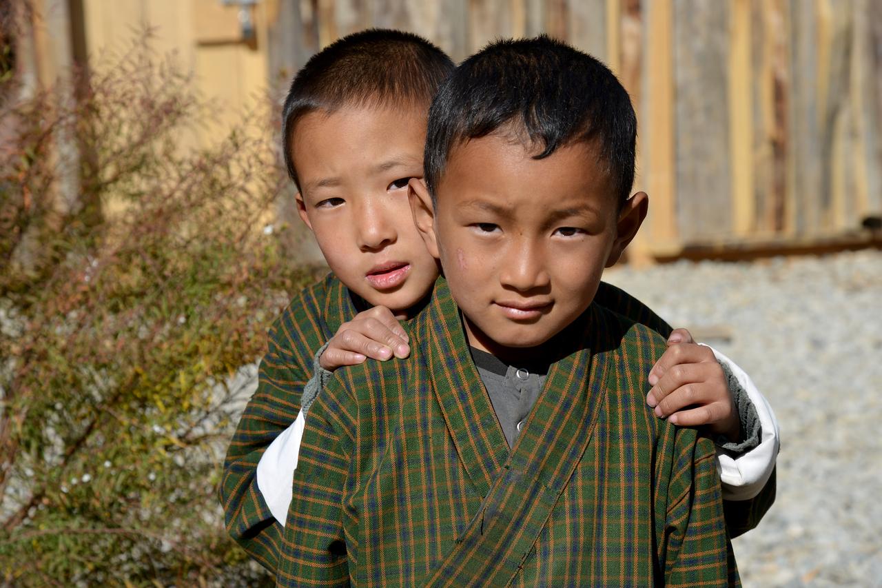Children playing after school in Paro, Bhutan.