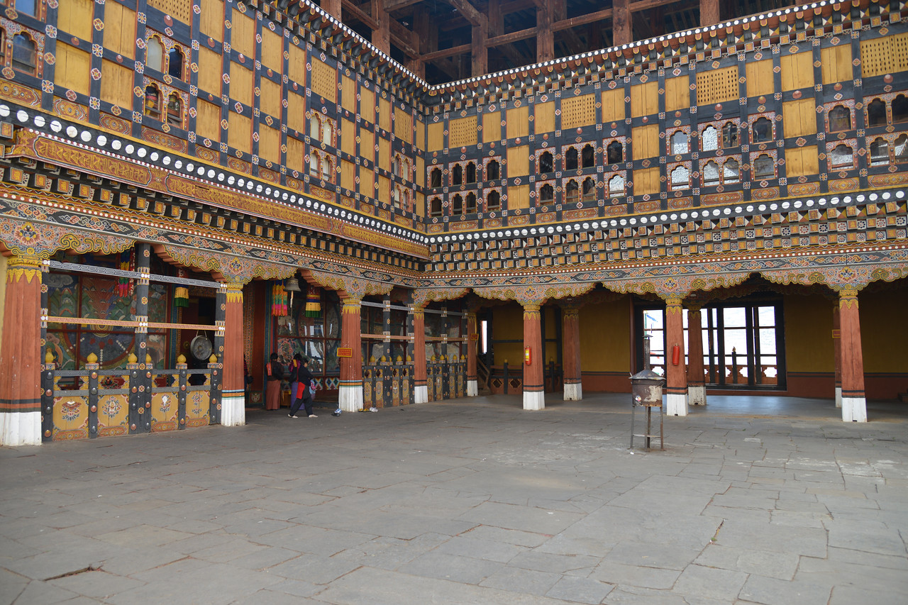 Rinpung Dzong is a large dzong - Buddhist monastery and fortress - of the Drukpa Lineage of the Kagyu school in Paro District in Bhutan. It houses the district Monastic Body and government administrative offices of Paro Dzongkhag