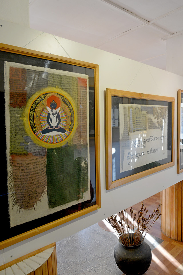 Art gallery - White Lotus Gallery in Paro, Bhutan which is located on the main market street.