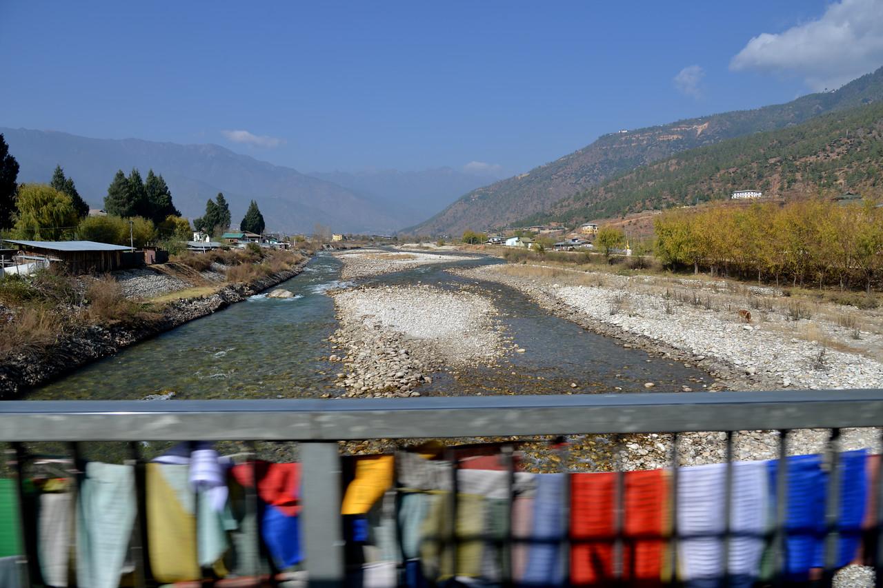 Prayer flags in Paro, Bhutan.