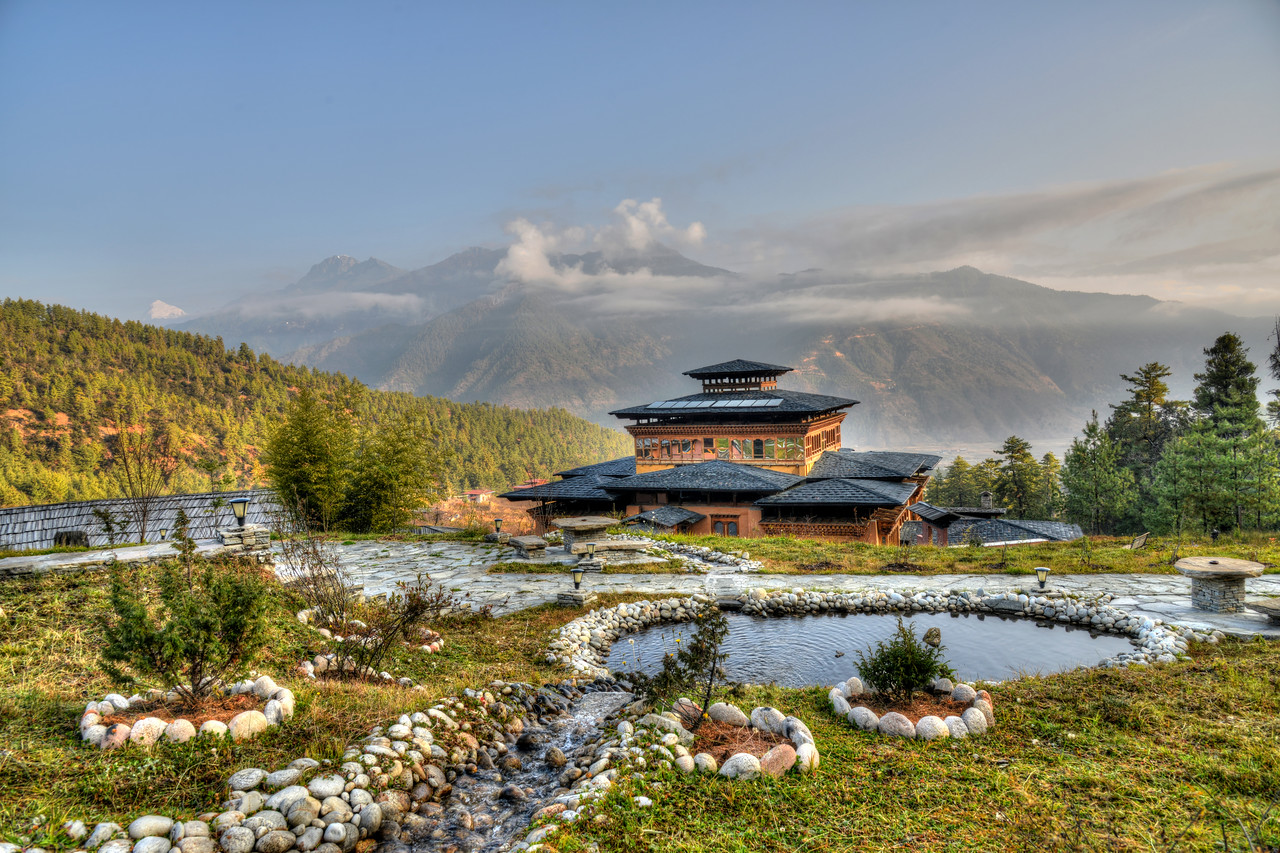 Naksel Boutique Hotel & Spa at Paro, Bhutan. <br /> <br /> Blending the heritage of traditional Bhutanese architecture and the comfort of modern amenities.