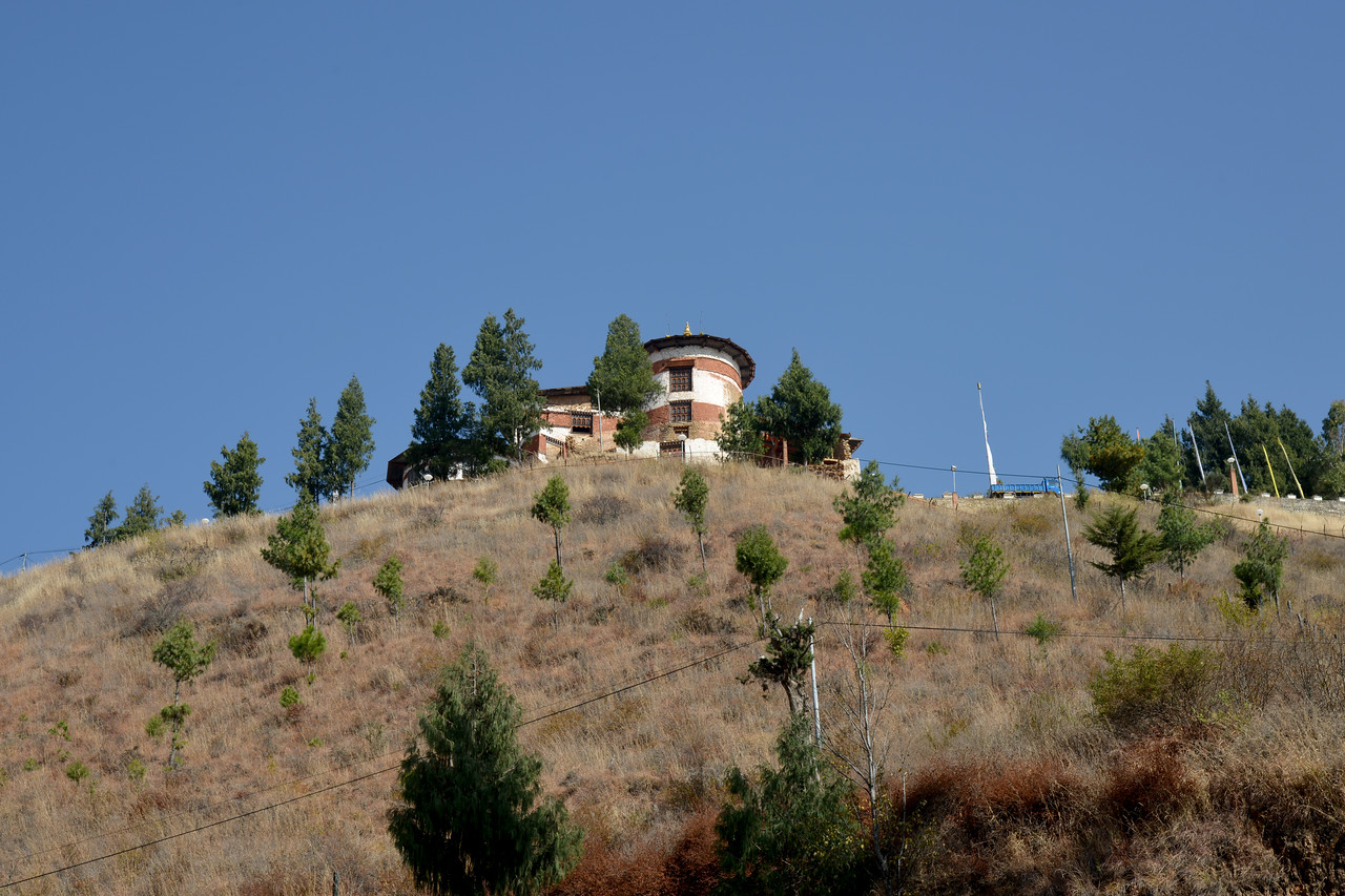 National Museum of Bhutan is a cultural museum in the town of Paro in western Bhutan. Established in 1968, in the renovated ancient Ta-dzong building, above Rinpung Dzong.