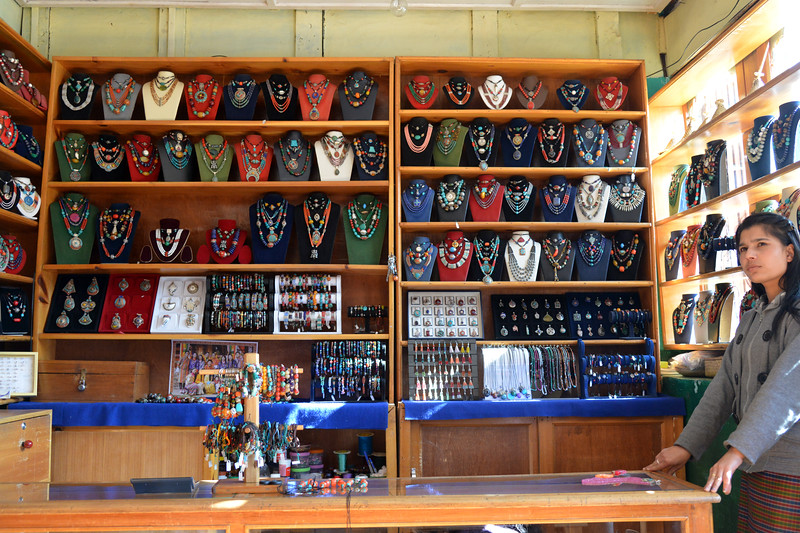 Shopping in Paro, Bhutan.