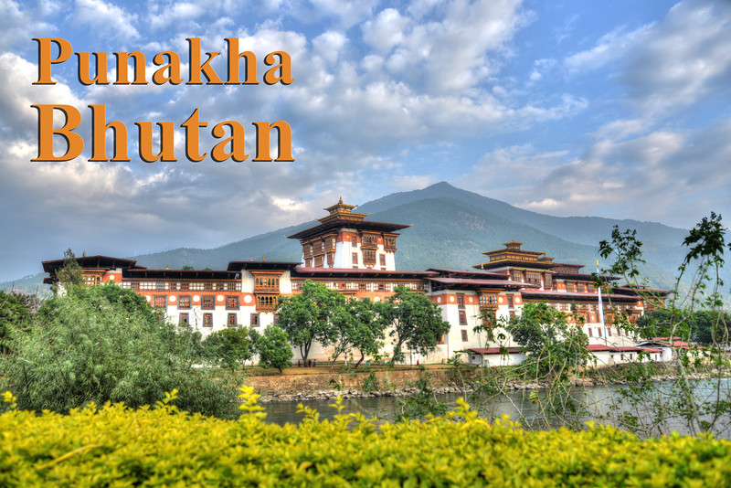 "The Punakha Dzong, also known as Pungtang Dechen Photrang Dzong (which means ""the palace of great happiness or bliss""), is the administrative centre of Punakha District in Punakha, Bhutan. Punakha Dzong was the administrative centre and the seat of the Government of Bhutan until 1955, when the capital was moved to Thimphu."
