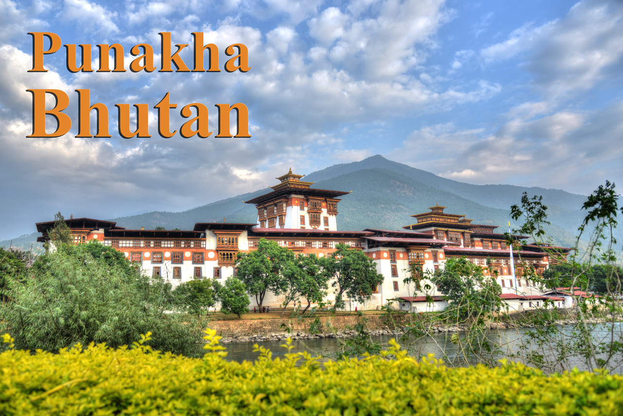 """The Punakha Dzong, also known as Pungtang Dechen Photrang Dzong (which means """"the palace of great happiness or bliss""""), is the administrative centre of Punakha District in Punakha, Bhutan. Punakha Dzong was the administrative centre and the seat of the Government of Bhutan until 1955, when the capital was moved to Thimphu."""