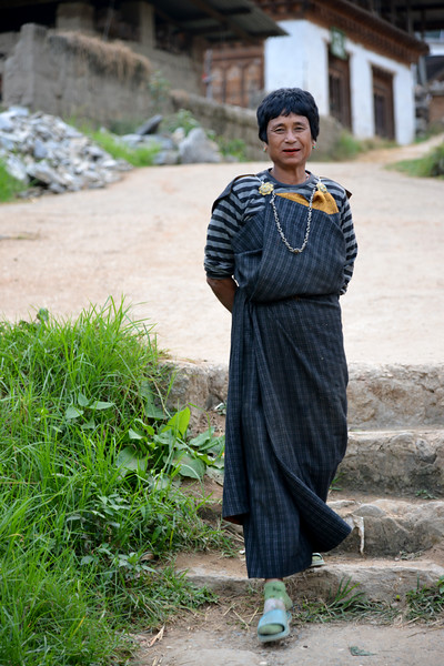 Lady in her village in Punakha, Bhutan.