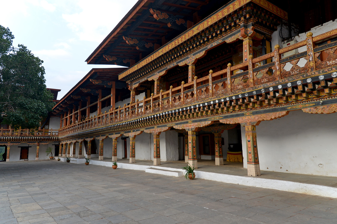"Inside Punakha Dzong, also known as Pungtang Dechen Photrang Dzong (which means ""the palace of great happiness or bliss""), is the administrative centre of Punakha District in Punakha, Bhutan."
