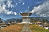 Dochula pass is located on the way to Punakha from Thimphu. With its fluttering prayer flags and views over the majestic Himalayas, takes your breath away on a clear day. The highly ornate Drukwangyal Lhakhang (temple) and the 108 chortens, was built by the Queen Mother Ashi Dorji Wangmo Wangchuck  to honour the Bhutanese soldiers who were killed when fighting Indian naxals/rebels in 2003. Walking around the 108 Chortens at the pass is a surreal experience and due to its significance the visitors are very respectful of the spiritual nature of this place.