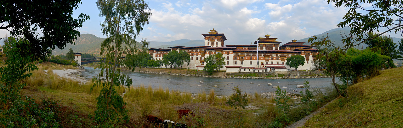 "The Punakha Dzong, also known as Pungtang Dechen Photrang Dzong (which means ""the palace of great happiness or bliss""), is the administrative centre of Punakha District in Punakha, Bhutan. Punakha Dzong was the administrative centre and the seat of the Government of Bhutan until 1955, when the capital was moved to Thimphu. The dzong is part of the Drukpa Lineage of the Kagyu school of Tibetan Buddhism in Bhutan. It is the second oldest and most majestic dzong in Bhutan built at the orders of Ngawang Namgyal."