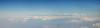 Panoramic view of the Himalayan range enroute flight from Mumbai, India to Paro, Bhutan on Druk Air flight.