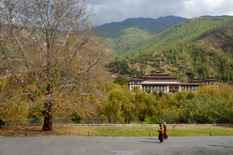 National Assembly of Bhutan, Gyelyong Tshokhang, Thimphu Bhutan seen from Tashichhodzong.