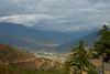 View of Thimphu city from Buddha Dordenma, Kuenselphodrang, Thimphu, Bhutan.