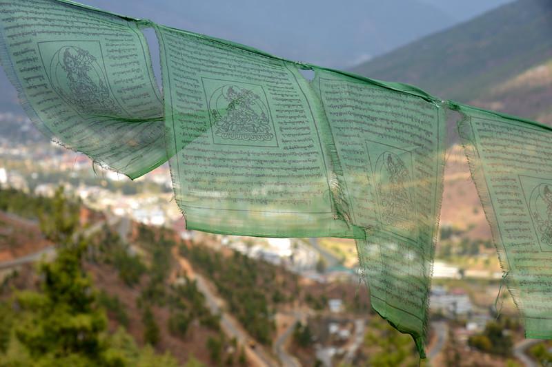 Prayer flags at Buddha Dordenma, Kuenselphodrang, Thimphu, Bhutan.
