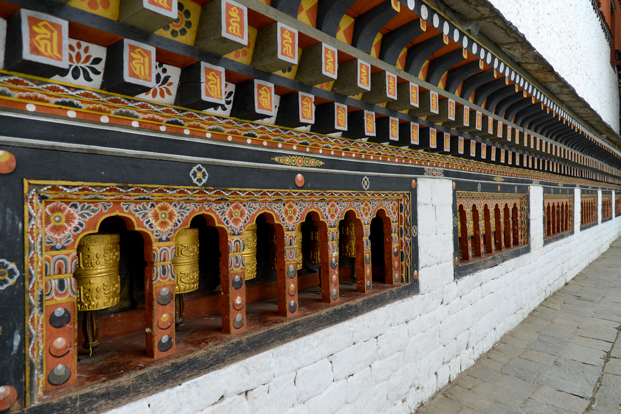 "Tashichhodzong, Chhagchhen Lam, Thimphu, Bhutan.<br /> Tashichhoedzong བཀྲ་ཤིས་ཆོས་རྫོང is a Buddhist monastery and fortress on the northern edge of the city of Thimpu in Bhutan, on the western bank of the Wang Chu.  It has traditionally been the seat of the Druk Desi (or ""Dharma Raja""), the head of Bhutan's civil government, an office which has been combined with the kingship since the creation of the monarchy in 1907, and summer capital of the country."
