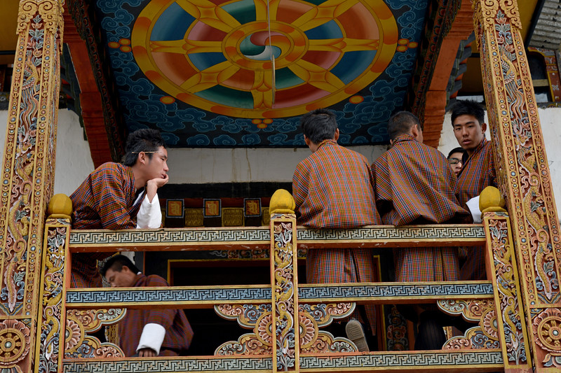 National Institute for Zorig Chusum, Dept of Human Resources, Thimphu, Bhutan.<br /> <br /> Commonly known as 'the painting school', four to six-year courses provide instruction in Bhutan's 13 traditional arts and students specialise in painting (furniture, thangka – painted religious pictures, usually on canvas), woodcarving (masks, statues, bowls), embroidery (hangings, boots, clothes) or statue-making (clay).