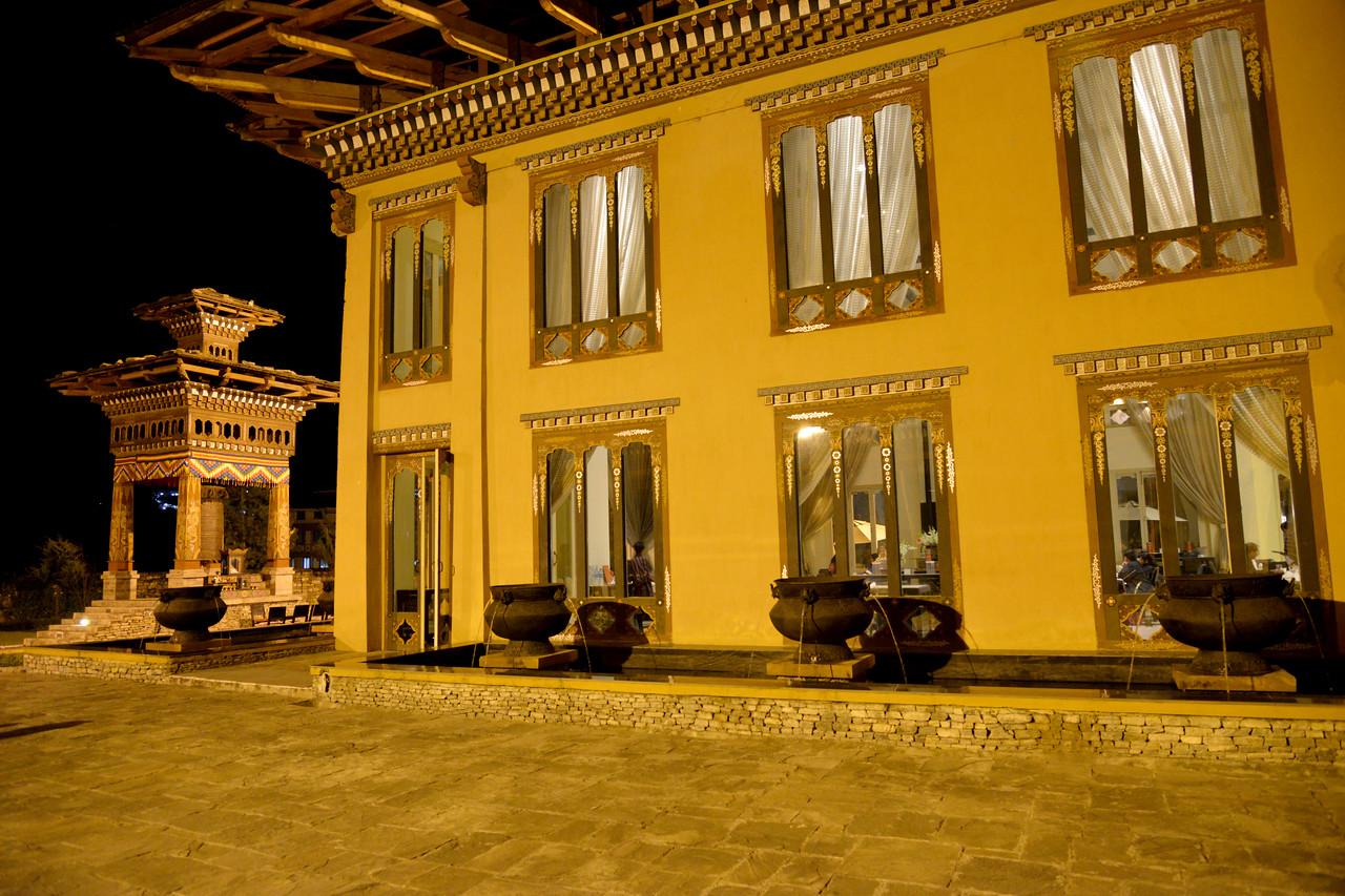 Taj Tashi Hotel in Thimphu, Bhutan.