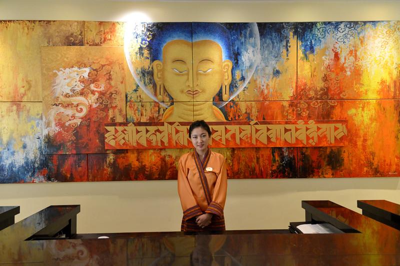 Delightful staff at Hotel Taj Tashi, Thimphu, Bhutan.