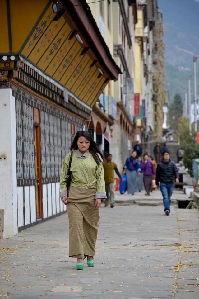 Streets of Thimphu, Bhutan.