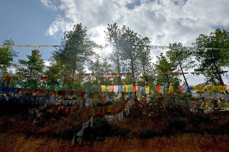 View enroute Buddha Dordenma, Kuenselphodrang, Thimphu, Bhutan.