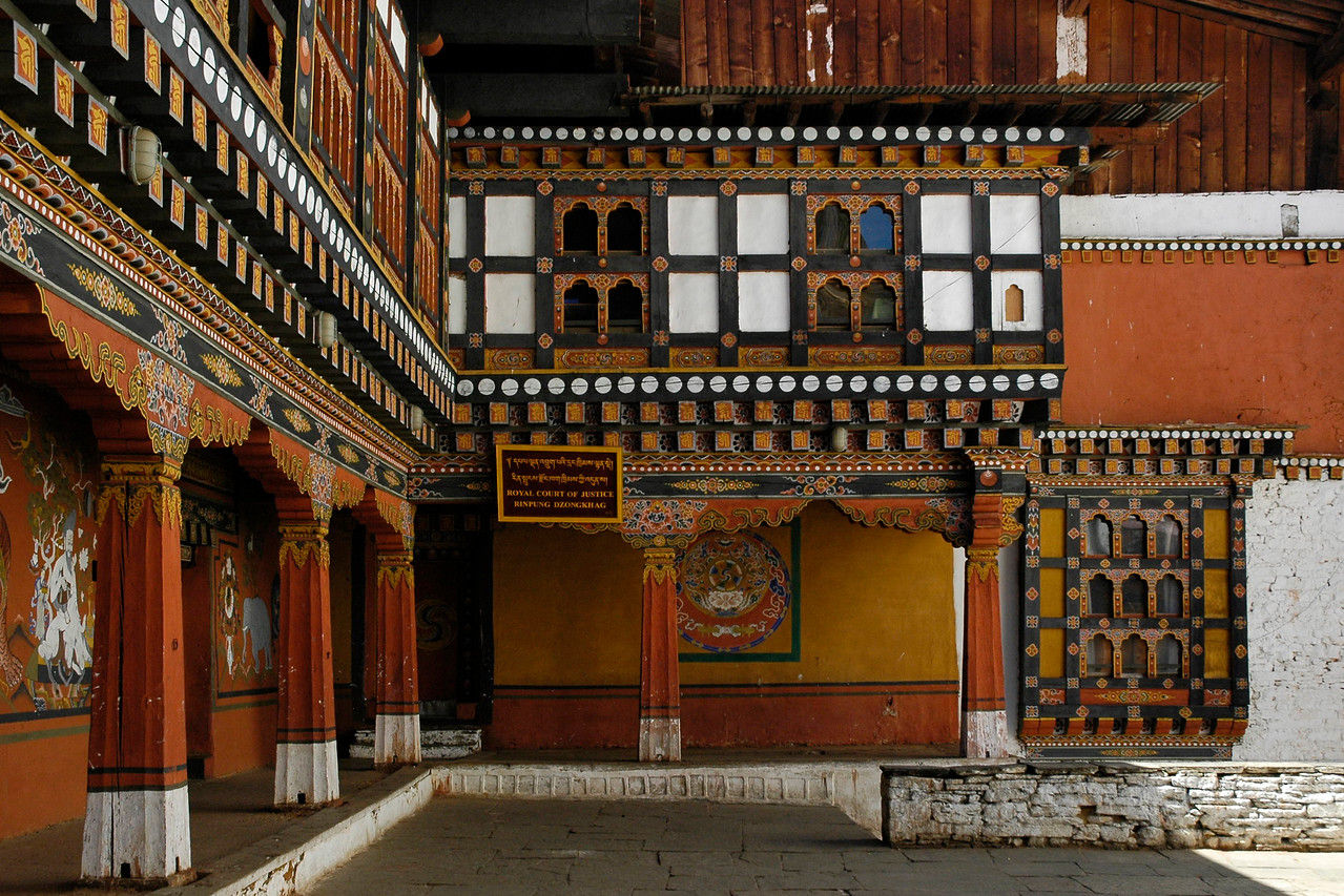 Royal Court of Justice. Rinpung Dzongkhag, Paro, Bhutan