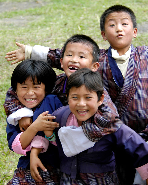 Children having fun in Samtse, Bhutan
