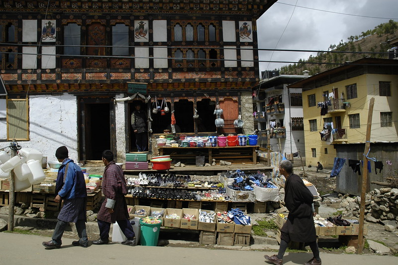Shopping in week end market in Thimpu, Bhutan.