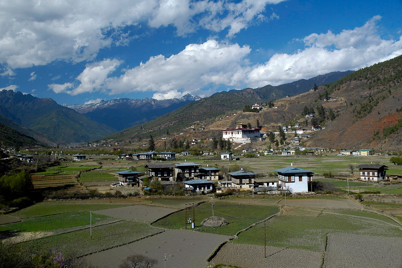 Magnificient view of Paro, Bhutan