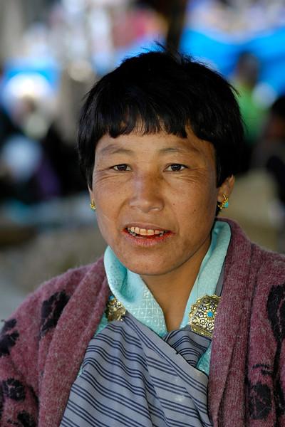 Lady in Thimphu, the capital of Bhutan.