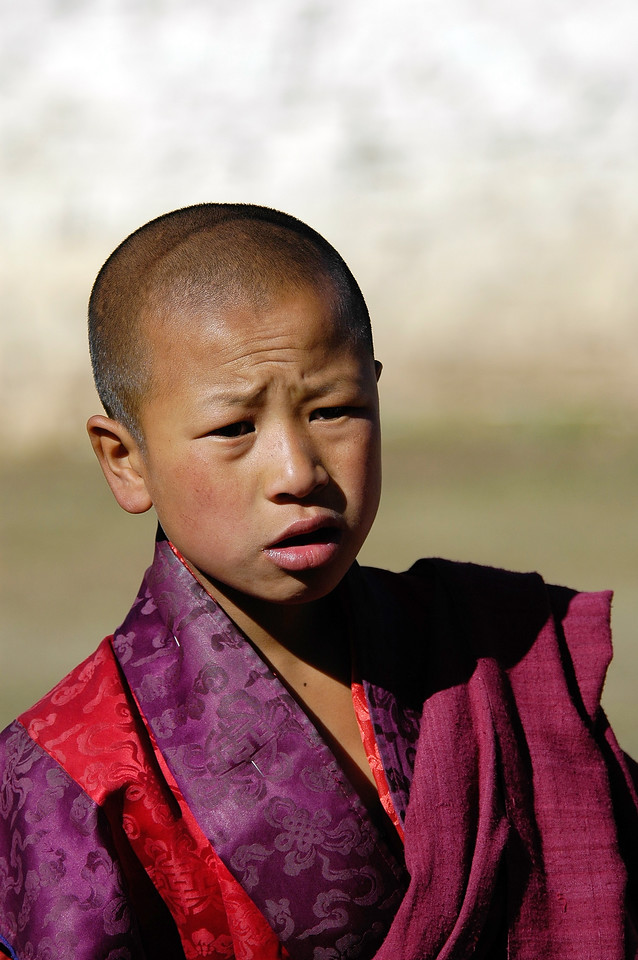 Young monk in Paro, Bhutan