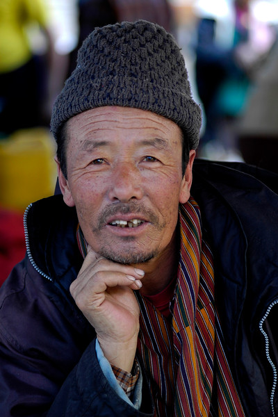 Egg vendor in Thimphu, the capital of Bhutan.