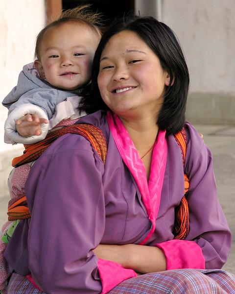 Mother & child in Bhutan.