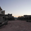 Bonanza Creek movie ranch, Main Street, just before dawn.