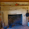 Fireplace inside Reconstructed Slave Cabin