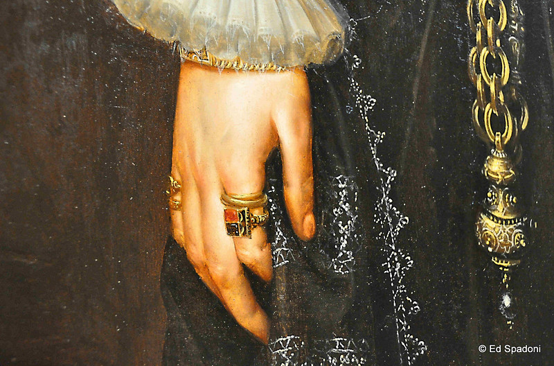 """Detail from """"Portrait of a Woman"""""""